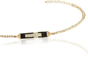 Gold Plated Sterling Silver Bracelet with Cross