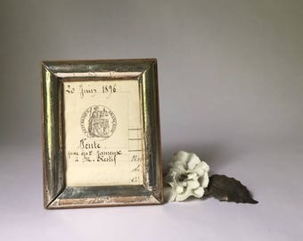 small antique English sterling silver frame, turn of the century lion passant hallmark, M date, Robert Green, Chester, England, lovely gift