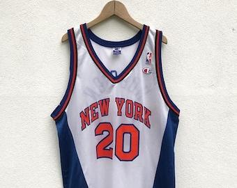20% OFF Vintage Champion NBA New York Jersey Houston 20 / Vintage Champion Clothing / NBA Shirt