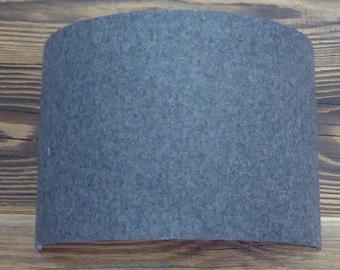 LAMPSHADE 44 charcoal grey wool