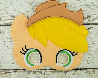 Apple Pony Children's Mask  - Costume - Theater - Dress Up - Halloween - Face Mask - Pretend Play - Party Favor
