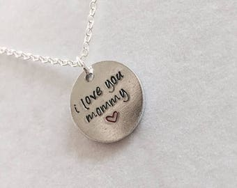 ON SALE I Love You Mommy Handmade Necklace