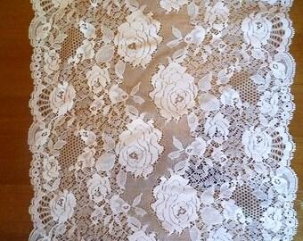 Beautiful white stretch lace