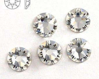 Swarovski crystals 2088 xirius CLEAR flat back stones gems rhinestone non hotfix - ss16 ss20 ss30