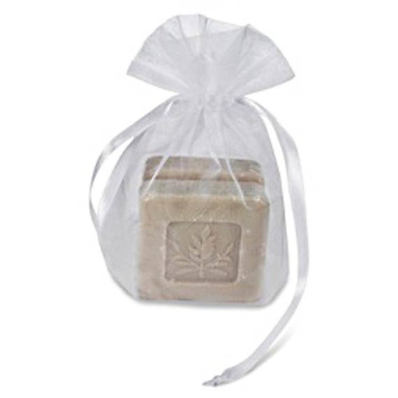 White or Gold Organza Soap Pouch