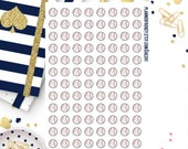 96 Baseball Stickers! A perfect fit for any Planner! AE201