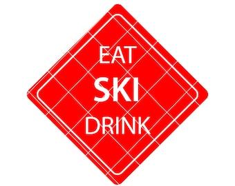 Ski svg - ski decal - ski t-shirt - ski cut file