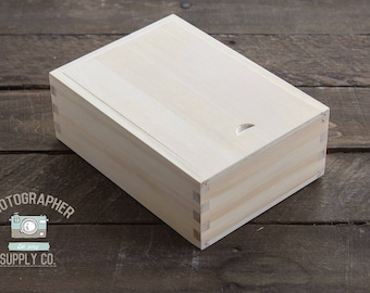 "Pine Wood/Wooden 4x6 Print Box Holder 4""x6"" Proof Box"