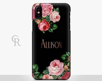 Floral Personalised Phone Case For iPhone 8 iPhone 8 Plus iPhone X Phone 7 Plus iPhone 6 iPhone 6S  iPhone SE Samsung S8 iPhone 5 Custom