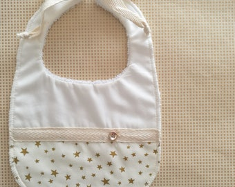 Christmas Baby bib Gold with stars