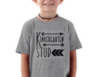 Kindergarten Shirt, Kindergarten Stud, Back to School Shirt, Boys Kindergarten Shirt, Only 11.99!!