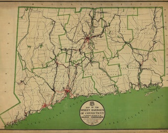 Connecticut State Map 1911