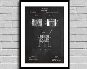Snare Drum Patent, Snare Drum Patent Poster, Snare Drum Blueprint, Snare Drum Print, Drummer Gift, Musician Gift, Music Decor, Vintage Decor