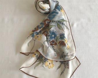 Antione Silk Scarf, Vintage Designer Scarf, Silk Accessories, Silk Scarves, Long Silk Scarf, Fashion Scarves, Fashion Accessories