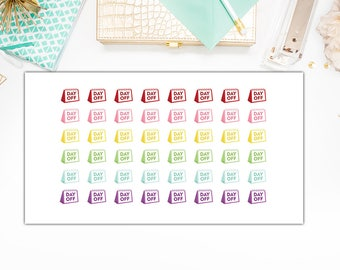 Day Off  Stickers, Day Off Planner Stickers, Functional Planner Stickers – Will Fit Any Planner– 0849