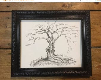 The Twisted Tree Wall Art Print of Original Pencil Drawing - Limited Edition Signed Illustration