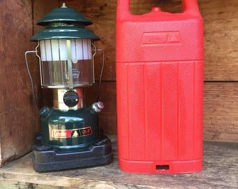 Coleman Lantern, Gas Lantern, Prepper/Preparedness Supply, Vintage Coleman, Camping Gear, RV Gear, Green Coleman Lantern with Case, Coleman