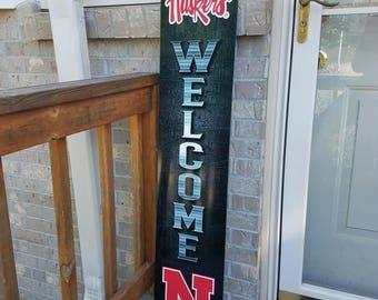 Nebraska Huskers Welcome Sign