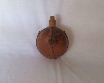 antique Greek rustic flask - vintage flask - antique flask - Rustic flask - folk flask - natural flask - original pumpkin flask