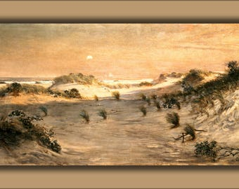 Poster, Many Sizes Available; Henry Ossawa Tanner Sand Dunes At Sunset, Atlantic City