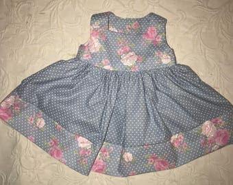 Infants baby girl sleeveless dress