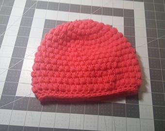 Crochet newborn to 3 months old winter hat