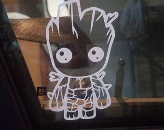 Baby Groot Decal - Tree - Comics - Guardian of the Galaxy Inspired - I Am Groot - Car Window - Small Decal - Wall Decal