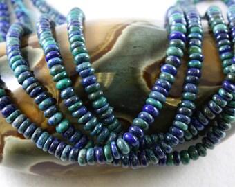 Azurite Malachite - Rondel Beads