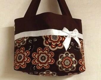 "2 flowers and Brown ""Billbag"" tote bag"