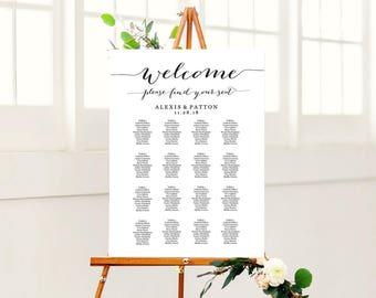Wedding Seating Chart, Wedding Seating Chart Template, Wedding Seating Sign, Seating Chart Poster, Seating Chart Wedding, Seating Plan