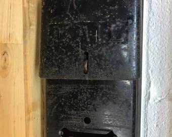 Black metal vintage mailbox