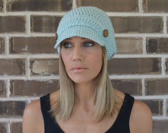 Crochet Newsboy Hat // Slouchy Newsboy Hat // Adult Size