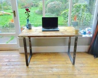 Industrial desk | Scaffold desk with box steel legs