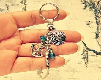 Fish Hook Keychain, Fish Hook Key Chain, Fishing Keychain, Fish Keychain, Fishing Gifts, Fishing Key Chain, Salvina's Treasures Accessories