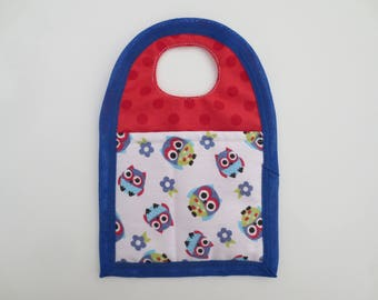 Bag to recharge mobile fabric owls blue/red