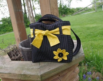 Stunning Homemade Purse with Yellow Highlights
