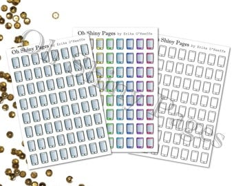 Phone - Mobile - Cell | Planner Stickers | Icons | MAMBI Happy Planner, ECLP, Kikk K, Filofax