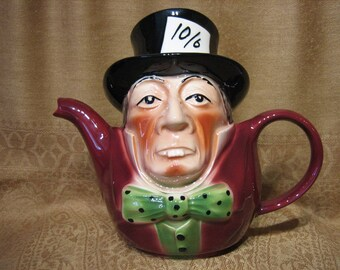 TONY WOOD TEAPOT -  The Mad Hatter, from Alice in Wonderland
