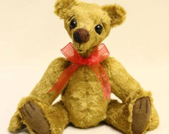 "OOAK artist bear, mohair bear, handmade by Brierley Bears ""Wurzel"""