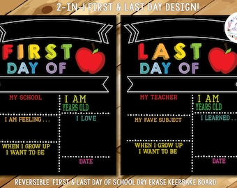 PRE-ORDER 4! First Day of School Chalkboard, Reusable First Day of School Sign, First and Last Day of School Sign, Back to School Chalkboard