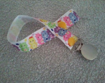 Pacifier clip care bears