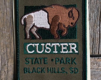 ONLY ONE! Custer State Park, Black Hills South Dakota Vintage Souvenir Travel Patch