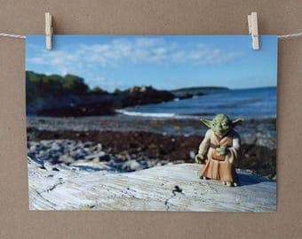 Yoda Photo Print, Beach Vacation