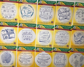 Hot Iron Transfers - Aunt Martha's - Various Available