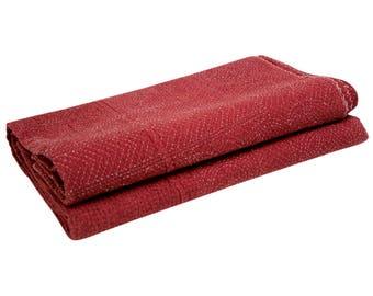 Raspberry Filanan Gudari Bed Cover, Filanan Gudari Bed Cover, Embroidered Bed Cover, Cotton Bed Cover, Bed Cover Linen, Bed Coverlet