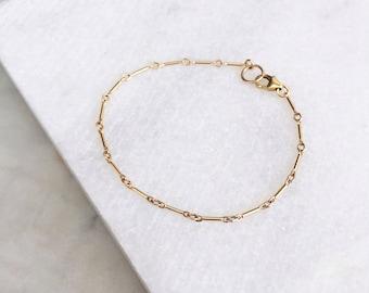 Boho Bracelet / Delicate Bracelet / Gold Chain / Chain Bracelet / Dainty Bracelet /14 KT Gold Fill / Gold Bracelet / Gold Filled
