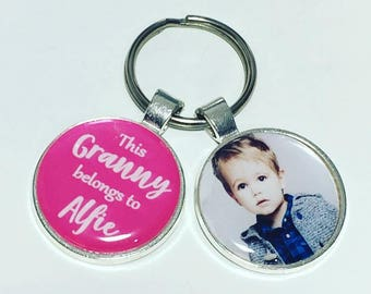Granny personalised keyring, This Granny belongs to, Granny gift, granny gift, gift for granny, Mothers day gift