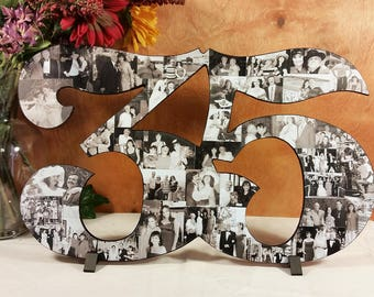 Photo Collage Number, Photo Collage, Photo Collage on Wood, Photo Collage Frame, Collage, Personal Photo Collage, Custom Photo Numbers