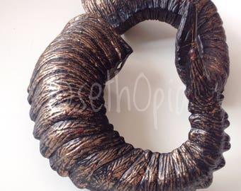Pair of copper horns