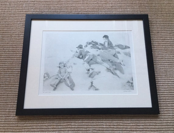 Sir William Orpen RA RI RHA (1878-1931) 'The Yacht race' Dublin bay 1913 photogravure signed in pencil